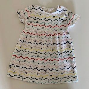 ZARA Babygirl short sleeve pique dress